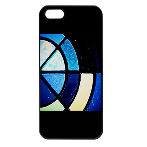 Ip Case Blue Color Blocks W Blacxk By Christine Carter   Apple Iphone 5 Seamless Case (black)   R2g4uj7eoalt   Www Artscow Com Front