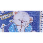 Teddy Hugs Blue 3D Greeting Card - HUGS 3D Greeting Card (8x4)