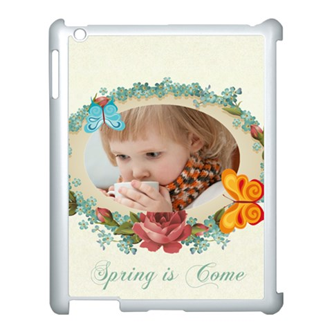Flower , Kids, Happy, Fun, Green By Jacob   Apple Ipad 3/4 Case (white)   Dulf6uw21m0o   Www Artscow Com Front