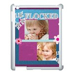 flower , kids, happy, fun, green - Apple iPad 3/4 Case (White)