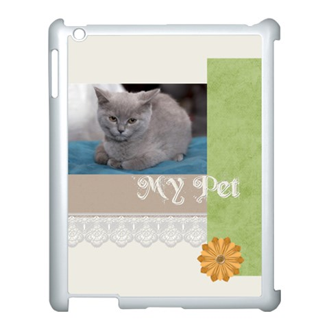 My Pet By Jacob   Apple Ipad 3/4 Case (white)   Hv0nksk7laws   Www Artscow Com Front