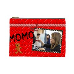 Momo By Apple Lin   Cosmetic Bag (large)   P1tfo1hhcomm   Www Artscow Com Front