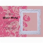 Hunny Bunny Girl Birth Announcement 02 - 5  x 7  Photo Cards