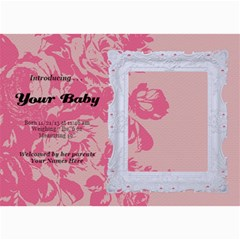 Hunny Bunny Girl Birth Announcement 02 By One Of A Kind Design Studio   5  X 7  Photo Cards   Jxvh6fct2xyu   Www Artscow Com 7 x5 Photo Card - 2