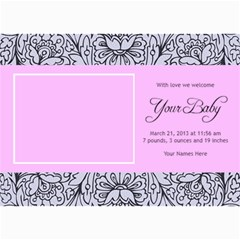 Hunny Bunny Girl Birth Announcement 03 By One Of A Kind Design Studio   5  X 7  Photo Cards   22xq8fv11f74   Www Artscow Com 7 x5 Photo Card - 10