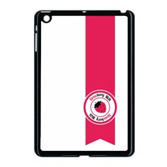 Brand Ribbon Pink With White Apple Ipad Mini Case (black) by strawberrymilk