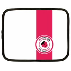 Brand Ribbon Pink With White Netbook Case (large) by strawberrymilk