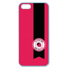 Brand Ribbon Black With Pink Apple Seamless Iphone 5 Case (color) by strawberrymilk