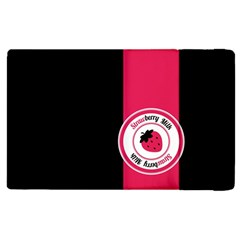 Brand Ribbon Pink With Black Apple Ipad 2 Flip Case by strawberrymilk