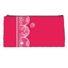 Strawberry Lace White With Pink Pencil Case by strawberrymilk
