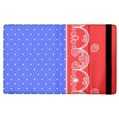 Lace Dots With Rose Purple Apple Ipad 2 Flip Case by strawberrymilk
