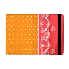 Lace Dots With Rose Gold Apple iPad Mini Flip Case by strawberrymilk