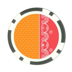 Lace Dots With Rose Gold Poker Chip Card Guard (10 Pack) by strawberrymilk