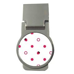 Strawberry Circles Pink Money Clip (round) by strawberrymilk