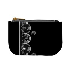 Strawberry Lace White With Black Coin Change Purse by strawberrymilk
