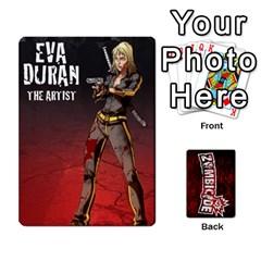 Zombicide Survivor Selector Deck By Dean   Playing Cards 54 Designs   Icfj9beh2irh   Www Artscow Com Front - Spade6
