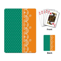Lace Dots  With Black Pink Standard Playing Cards by strawberrymilk