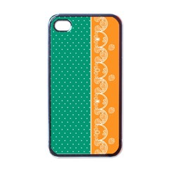 Lace Dots  With Black Pink Black Apple Iphone 4 Case by strawberrymilk