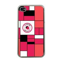 Brand Strawberry Piet Mondrian Pink Apple Iphone 4 Case (clear) by strawberrymilk