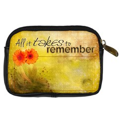 Remember Our Happiness Bag By Elena Petrova   Digital Camera Leather Case   Hwmc4giu6fpg   Www Artscow Com Back