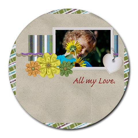 Kids, Fun, Child, Play, Happy By Jacob   Round Mousepad   Wl0gpzpu8ktt   Www Artscow Com Front