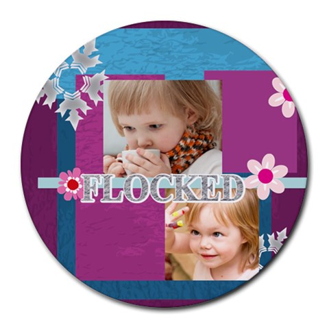Kids, Fun, Child, Play, Happy By Jacob   Round Mousepad   O3qgp9rgm7zw   Www Artscow Com Front