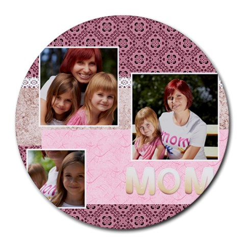Mothers Day By Jacob   Round Mousepad   Ncmljftr5jtp   Www Artscow Com Front