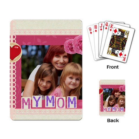 Mothers Day By Jacob   Playing Cards Single Design   Zk0ex3aq942w   Www Artscow Com Back
