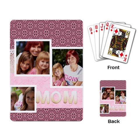 Mothers Day By Jacob   Playing Cards Single Design   Roykb7astzw8   Www Artscow Com Back