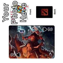 Dota Cards By Tom   Playing Cards 54 Designs   Dtf7c0mw8fgw   Www Artscow Com Front - Spade2