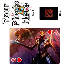 Dota Cards By Tom   Playing Cards 54 Designs   Dtf7c0mw8fgw   Www Artscow Com Front - Heart2