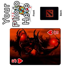 Dota Cards By Tom   Playing Cards 54 Designs   Dtf7c0mw8fgw   Www Artscow Com Front - Heart5