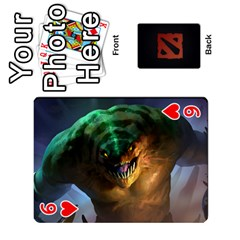 Dota Cards By Tom   Playing Cards 54 Designs   Dtf7c0mw8fgw   Www Artscow Com Front - Heart6