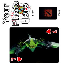 Dota Cards By Tom   Playing Cards 54 Designs   Dtf7c0mw8fgw   Www Artscow Com Front - Heart7