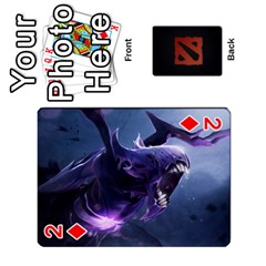 Dota Cards By Tom   Playing Cards 54 Designs   Dtf7c0mw8fgw   Www Artscow Com Front - Diamond2