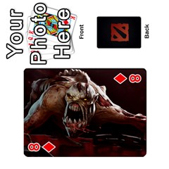 Dota Cards By Tom   Playing Cards 54 Designs   Dtf7c0mw8fgw   Www Artscow Com Front - Diamond8