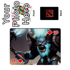 Dota Cards By Tom   Playing Cards 54 Designs   Dtf7c0mw8fgw   Www Artscow Com Front - Diamond9
