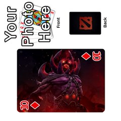 Dota Cards By Tom   Playing Cards 54 Designs   Dtf7c0mw8fgw   Www Artscow Com Front - Diamond10