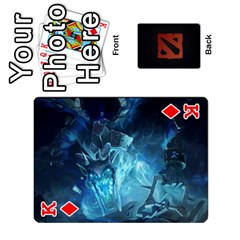 King Dota Cards By Tom   Playing Cards 54 Designs   Dtf7c0mw8fgw   Www Artscow Com Front - DiamondK