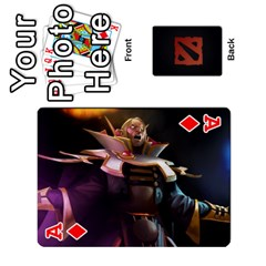 Ace Dota Cards By Tom   Playing Cards 54 Designs   Dtf7c0mw8fgw   Www Artscow Com Front - DiamondA