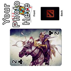 Dota Cards By Tom   Playing Cards 54 Designs   Dtf7c0mw8fgw   Www Artscow Com Front - Club2