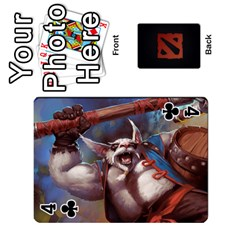 Dota Cards By Tom   Playing Cards 54 Designs   Dtf7c0mw8fgw   Www Artscow Com Front - Club4