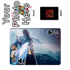 Dota Cards By Tom   Playing Cards 54 Designs   Dtf7c0mw8fgw   Www Artscow Com Front - Club6