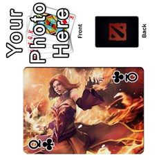 Queen Dota Cards By Tom   Playing Cards 54 Designs   Dtf7c0mw8fgw   Www Artscow Com Front - ClubQ