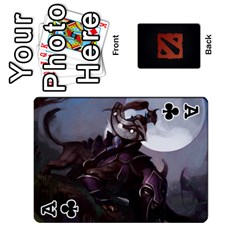 Ace Dota Cards By Tom   Playing Cards 54 Designs   Dtf7c0mw8fgw   Www Artscow Com Front - ClubA