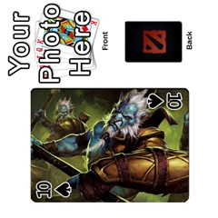 Dota Cards By Tom   Playing Cards 54 Designs   Dtf7c0mw8fgw   Www Artscow Com Front - Spade10