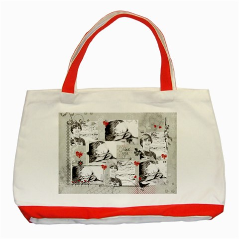 Classic Tote Bag Red By Deca   Classic Tote Bag (red)   Sn9nb6nnh2w2   Www Artscow Com Front