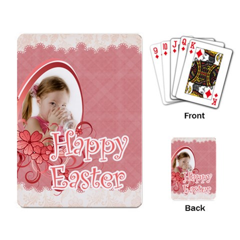 Easter By Easter   Playing Cards Single Design   Fns7rx55znkg   Www Artscow Com Back