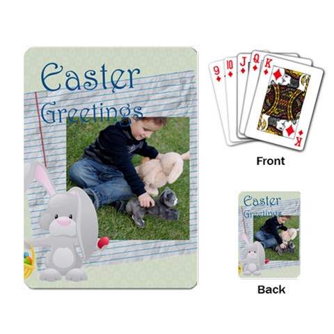 Easter By Easter   Playing Cards Single Design   Yp8y2vgcbdk7   Www Artscow Com Back