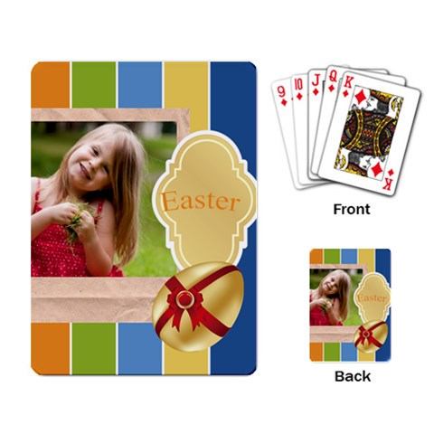 Easter By Easter   Playing Cards Single Design   Rdlfgec7r2t2   Www Artscow Com Back